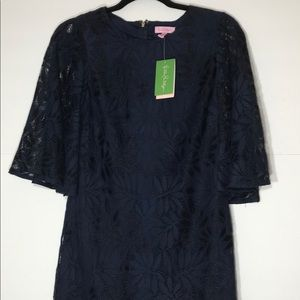 NWT Lilly Pulitzer 0 blue Jackalin Romper lace